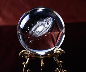 ball, crystal, and universe image