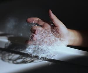 hand, bubbles, and grunge image