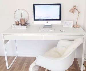 home office - white & rose gold