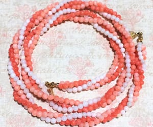 etsy, statement necklace, and coral bead necklace image