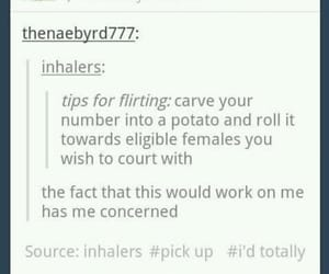 flirting, funny, and hilarious image