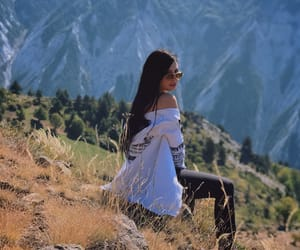 chill, girl, and mountain image