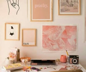 decoration, home office, and rosa image