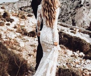 lace wedding dress, wedding dress vintage, and wedding dress mermaid image