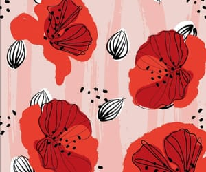 flower pattern, poppies, and poppy image