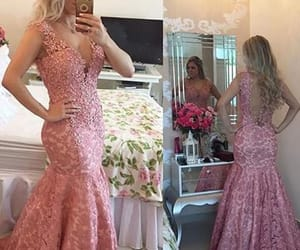 mermaid prom dress, v neck evening dresses, and prom dress for cheap image