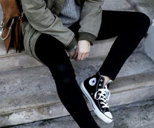converse, style, and black image
