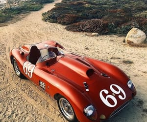1957, race car, and red image
