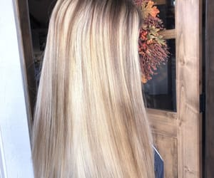 blonde, fall, and hair image