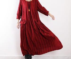 red dress, loose dress, and women long dress image