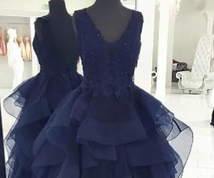 dress long, dark blue dress, and a-line dress image