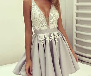 prom dress, short homecoming dresses, and chiffon prom dress image
