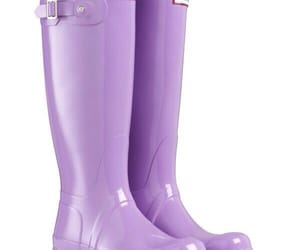 boots, purple, and hunter boots image