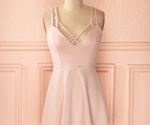 homecoming dress pink, v neck homecoming dress, and homecoming dress v-neck image