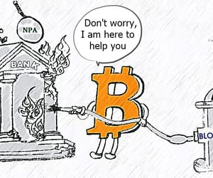 indian banks on fire and crypto adoption image