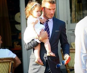 dad and David Beckham image