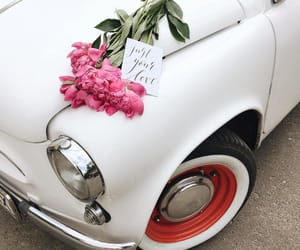 car, classy, and flowers image