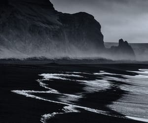 black, sea, and nature image