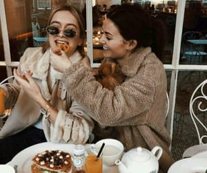fashion, friends, and food image