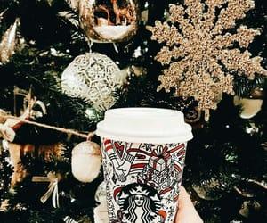 winter, christmas, and starbucks image