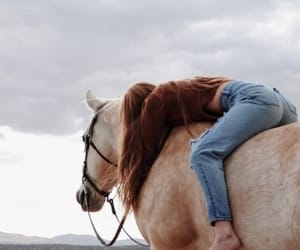 girl, horse, and indie image