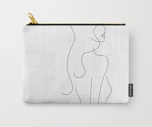 accessories, line drawing, and bag image