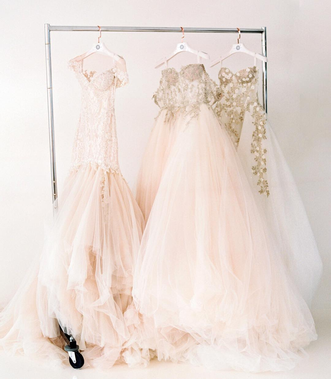 ball gown, blush, and dreamy image