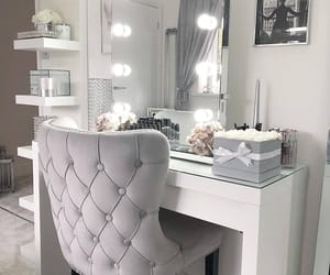 bedroom, house, and mirror image
