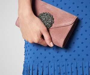 clutch, pink, and suede image