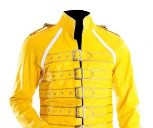 biker, leatherjacket, and yellow image