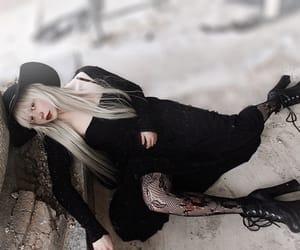 albino, body positive, and long hair image