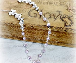 bridal jewelry, floral necklace, and flower necklace image