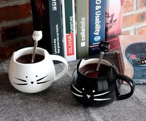 cats, gift idea, and cat mug image