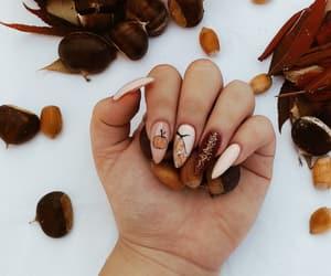 fall, nails, and october image