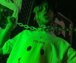 lil peep, peep, and green image