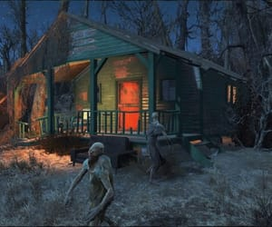 cabin, fallout, and sinister image