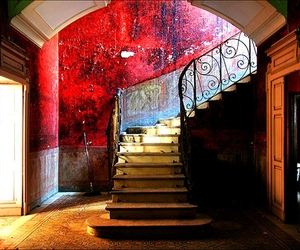 colors, stairs, and girl image