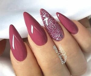 nails, pink, and beautiful image