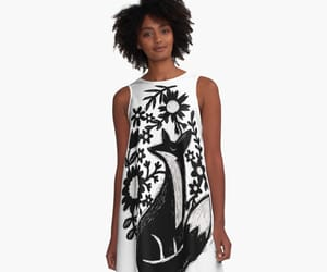 dress, flower, and forest image