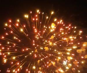 fireworks, night, and orange image