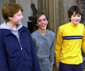 daniel radcliffe, hermione granger, and the golden trio image