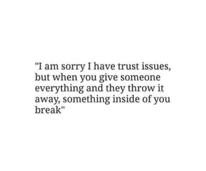 quotes, issues, and trust image