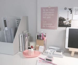 college, pink, and study image