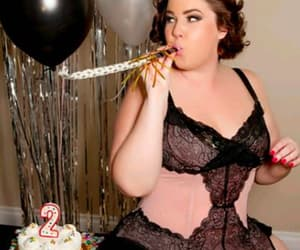 plus size, curvy girl, and plus size lingerie image