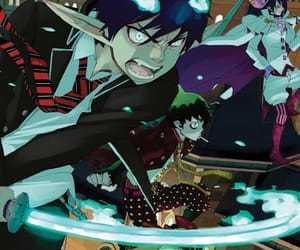 mephisto, rin, and blue exorcist image