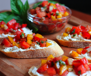 food, bruschetta, and yummy image