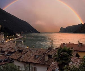 rainbow, nature, and sea image