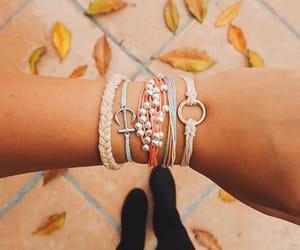 bracelets, girl, and fun image