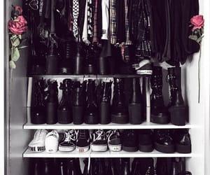 alternative, black, and closet image
