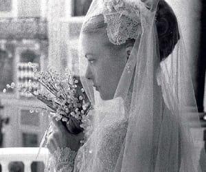 dress, grace kelly, and wedding image